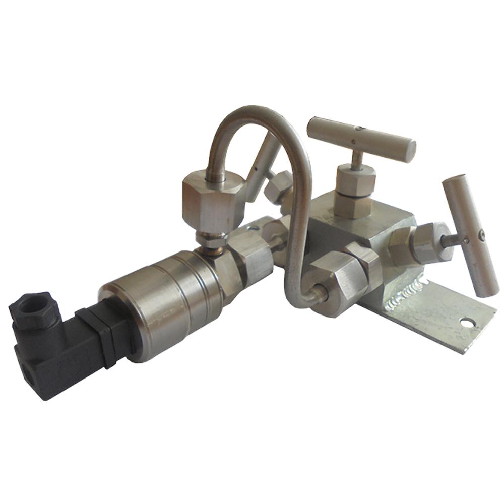 МИДА-ДД-15-Ех-0,15/0,004 МПа-052-М12х1,5-DIN С с вентильным блоком и двумя ГП